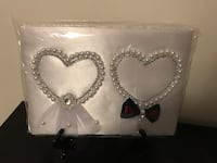 New guest book for wedding decorated with pearls Mississauga, L5M 7X7