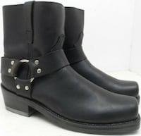 """Durango Men's 7"""" Harness Motorcycle Leather Boots Db710 Black Size US  Calgary, T2B 2X9"""