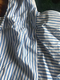 white and blue striped dress shirt Fairfax, 22033