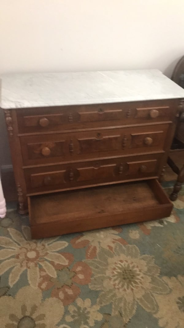 Marble top dresser with secret drawer 1