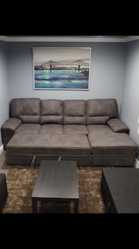 Brown fabric sofa bed Vancouver, V5P 3S9