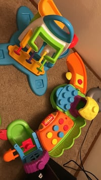 children's assorted color plastic toy collection