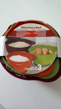 Three piece set Mixing Bowls by Kitchen Aid