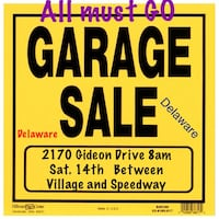 Garage Sale open Sunday Too Middlesex Centre, N0L 1E0