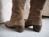 pair of brown suede side-zip boots Hammersmith, W14