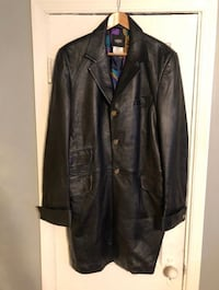 Men's vintage Versace leather coat size 52 Authentic Washington, 20002