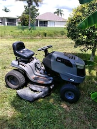 black and gray ride on mower Lehigh Acres, 33971