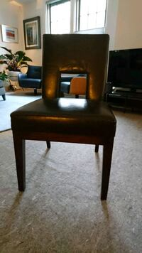 Pier One Leather Dining Chairs