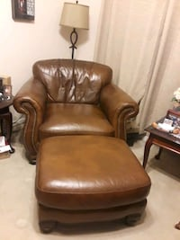 Leather chair and ottoman.  Houston, 77042