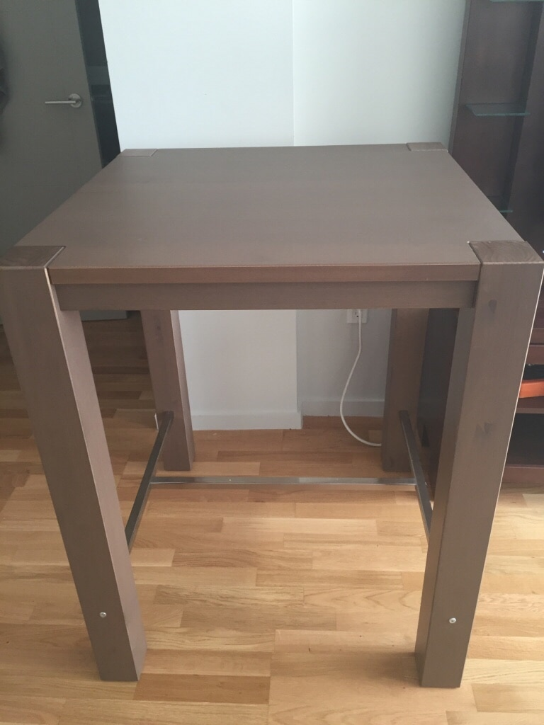 Merveilleux IKEA Table Bar Height In Brown