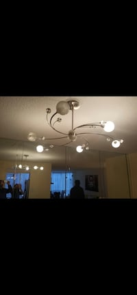 White  uplight chandelier Toronto, M2R 3W7