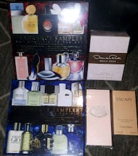 Fragrance sampler &  gift certificate sets & 3 perfumez , sealed ,NEW! Calgary, T3K