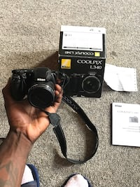 Black nikon coolpix dslr camera with box - L340 works perfect, greater starter cam. Warranty in box from Nikon, With batteries.... lowest is $100 Description  Capture subjects both near and far with the long zoom range of the COOLPIX L340 Digital Camera f London, N6A 1C9