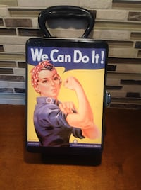 "Rosie the Riveter ""WE CAN DO IT"" TIN LUNCH  BOX"