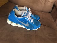 pair of blue-and-white Nike running shoes San Angelo, 76901