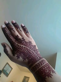Dark brown henna design. Art/ tattoo Alexandria, 22311