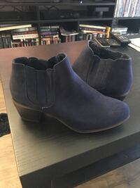 Size 7 Navy Blue Faux Suede Booties Huntington Beach, 92647
