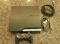 black Sony PS3 slim console with controller Tulare, 93274