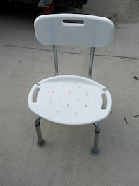 white and gray armless chair