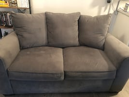 Plush gray couch