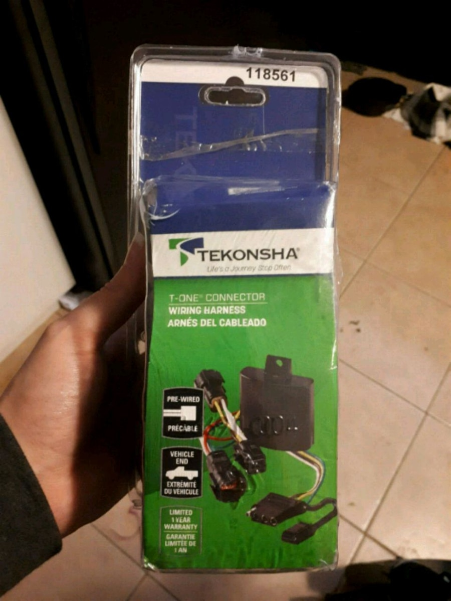 black Tekonsha T-One Connector wiring harness pack for sale  Mission