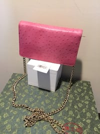 Kate spade Isabeli head in the sand( Pxru2081) HIBISCUS OSTRICH EMBOSSED COWHIDE LEATHER CROSS BODY BAG.custom library stripe line LINING, SILVER KATE DPADE NEW YOYK PLATE, shoulder bag with flap and tag. Freeport, 11520