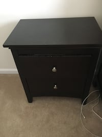 Black nightstand/bed side table Ashburn, 20147