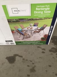 Patio dining table n colorful chairs  Chattanooga, 37421