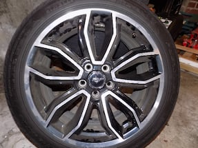 mustang gt wheels and tires. 245/45/19 4ea.