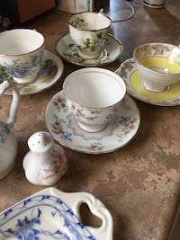 4-tea cups and saucer royal Albert royal vale and Tuscan. And 4- misc pieces. Fine china from England. Negotiable pick up St. Albert  St Albert, T8N 5E4