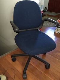 Office chair- blue fabric, rolling desk chair Fairfax, 22030