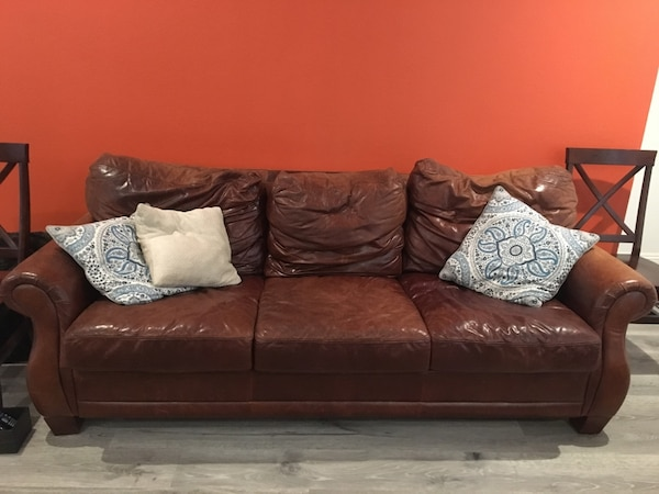 Awe Inspiring Italian Leather Couch Brown Leather 3 Seat Sofa Squirreltailoven Fun Painted Chair Ideas Images Squirreltailovenorg