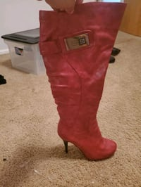 Red leather boots Anchorage, 99508