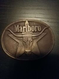 Marlboro gray steel belt buckle