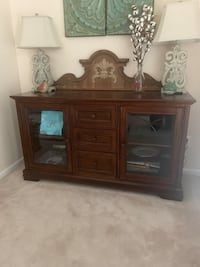 TV Stand /Side Board 33 1/2 in tall 60 long 20 deep got at Havertys