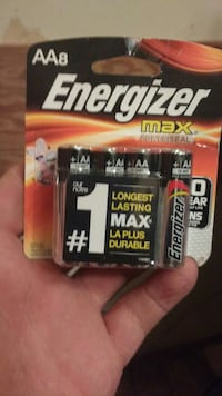 Double AA Energizer Max batteries in pack