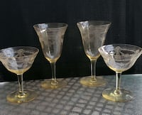 4 Vintage amber coloured wine glasses Burlington, L7L 6H8