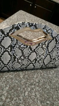 New Large Snakeskin Bag/ Purse