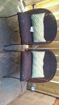 Two patio chairs with cushion  507 km