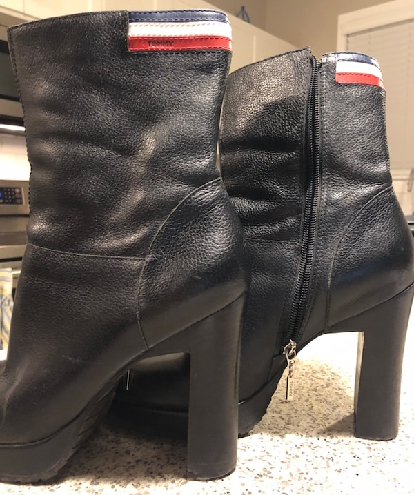 2f3f2601d Used TOMMY Hilfiger leather ankle boots for sale in Calgary - letgo