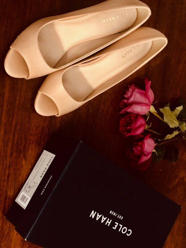 New pump sandals, Cole HAAN, size 8, color: Nude Leather 0