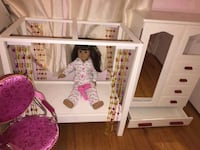 Authentic American Doll Bed & Closet Dresser Set & Chair- Excellent Condition!  Authentic American Doll Bed & Closet Dresser Set in excellent condition, well taken care of and smoke and pet free home!  Doll not included with the set.  Will sell separately