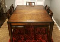 SOLID WOOD dining set w/chairs, gently used Milton, L9T