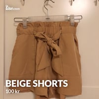 kvinners brune denim generelle shorts 6256 km