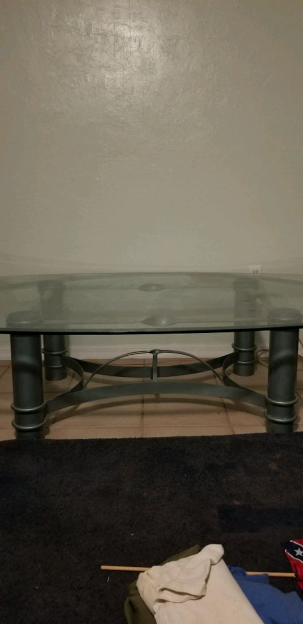 Couch, loveseat, glass table, mint color 41fe3c74-9404-456a-a8a1-41ec151ccc76