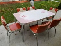 Vintage 1957 Southern Dinette Co. Table & Chairs Manchester, 17345