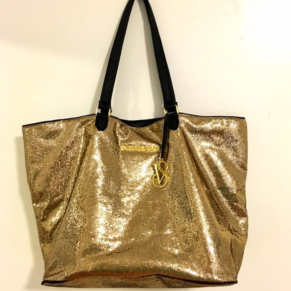 Victoria's Secret Gold Beach Bag