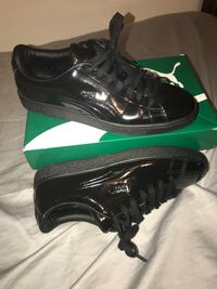 Black puma patent shoes with box Midway, 32343