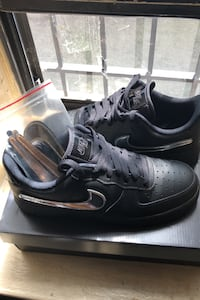 Air Force 1s All Black With Velcro Nike Check New York, 11205