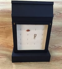 Jewelry Display Case Navy Faux Leather with lock and key and drawers Bulk Buy Available